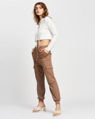 REVERSE Cargo Jogger Pants - Sweatpants (Mocha)