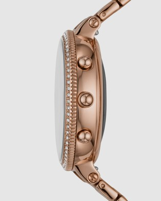Fossil Monroe HR Rose Gold Tone Hybrid Smartwatch FTW7037 - Smart Watches (Rose Gold-Tone)