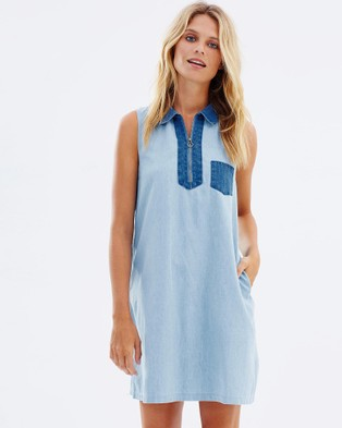 Ryder – Dylan Light Denim Dress – Dresses (Blue)