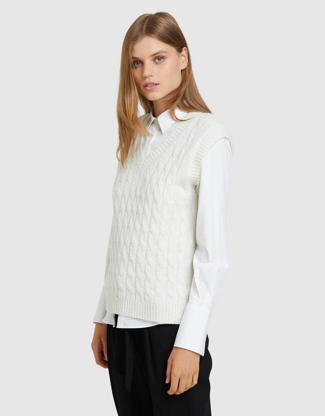 Women Imogen Cable Knit Vest