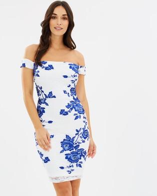 Lipsy – Lace Embroidered Bandeau Mini Dress – Bodycon Dresses Multi