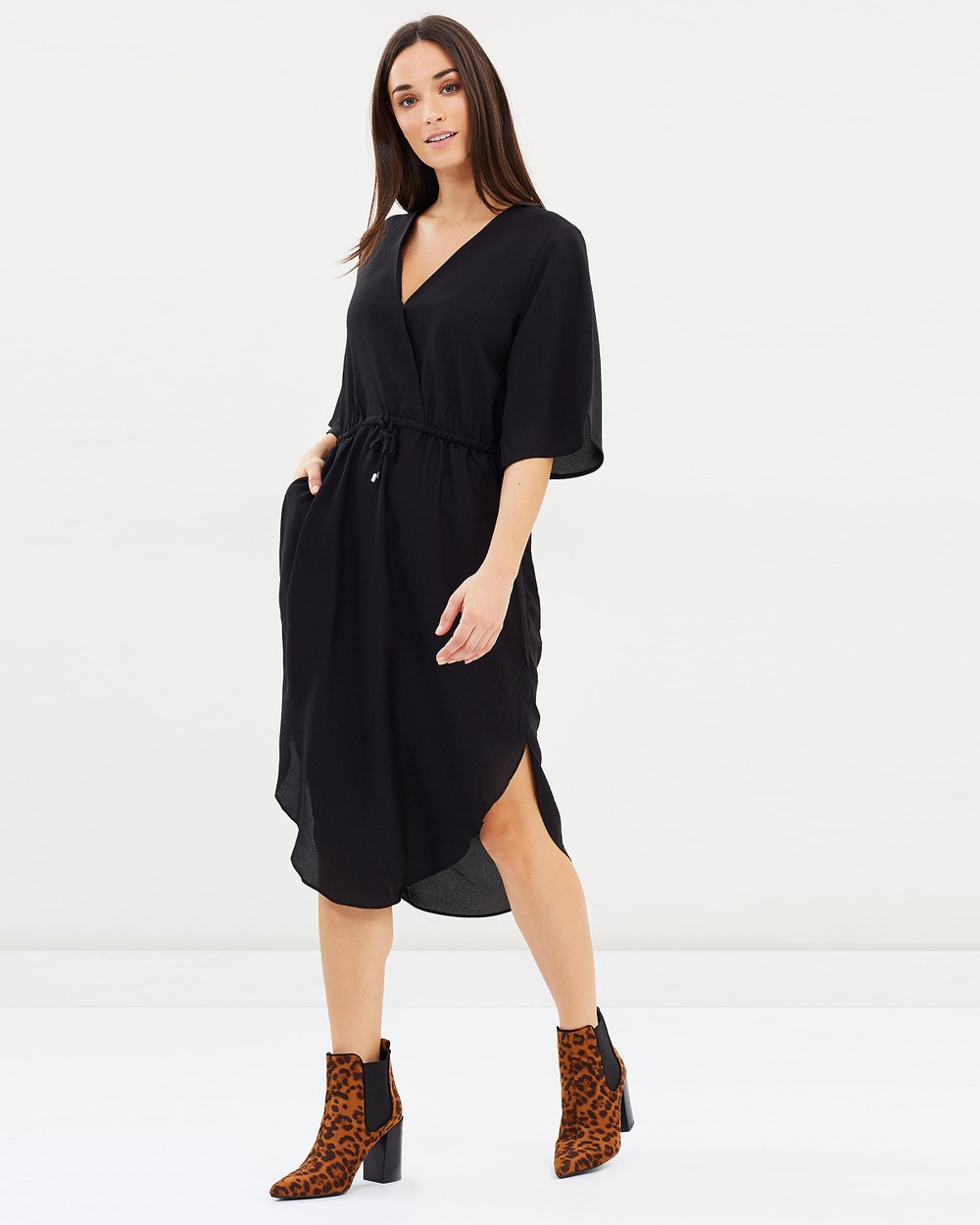 Decjuba Jules Flutter Sleeve Dress Dresses Black Jules Flutter Sleeve Dress