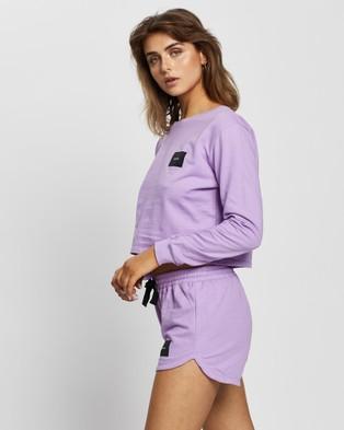 Cartel & Willow Cartel Badge Logo Long Sleeve - Sweats (Lavender)