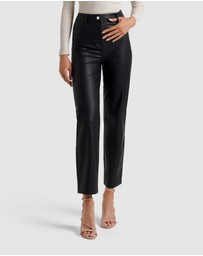 Forever New - Juliet Vegan Leather Straight Leg Pants