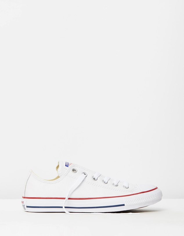 Mens Converse Chuck Taylor All Star Lo Top Leather Fashion Sneaker Optical White
