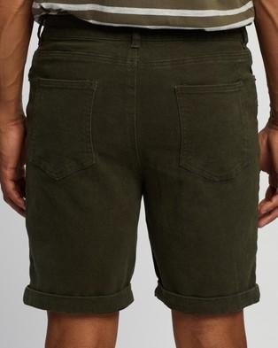Staple Superior Organic Organic Cotton Five Pocket Shorts - Chino Shorts (Khaki)