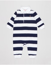 Polo Ralph Lauren - Striped Cotton Rugby Coveralls - Babies