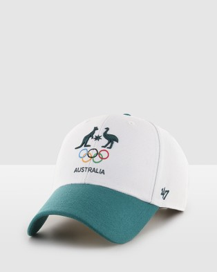 Australian Olympics - AOC Sure Shot Two Tone '47 MVP White Green Headwear (White/Green) White-Green