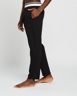 Calvin Klein Sleep Pants Sleepwear Black with American Dream Patch & Icing Logo