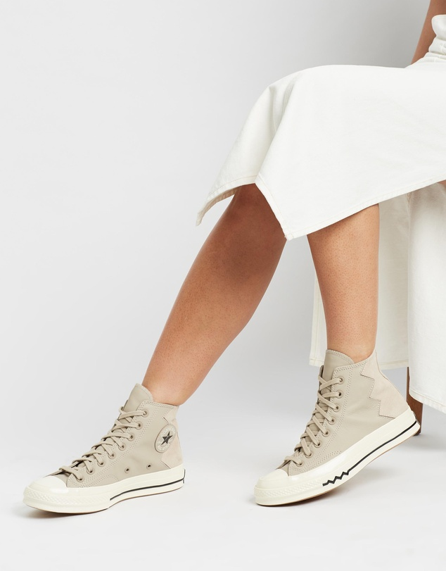 Converse - Chuck Taylor 70 VLTG Leather and Suede Sneakers - Women's