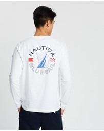 NAUTICA - LS Blue Sail Graphic Tee