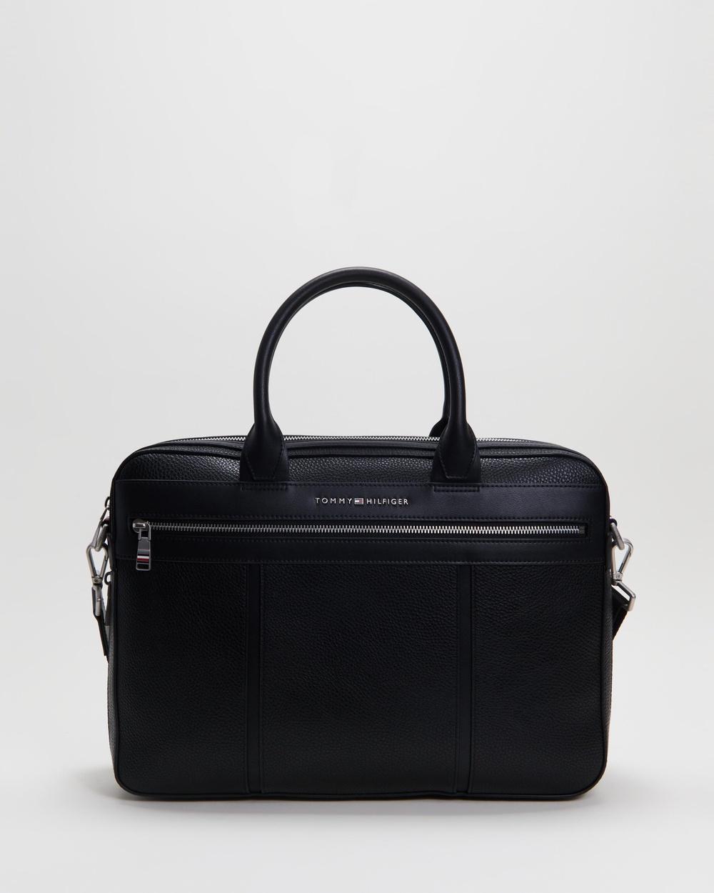 Tommy Hilfiger Downtown Slim Computer Bag Bags Black Australia