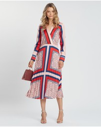 Maison Scotch - Printed Pleated Midi Length Dress