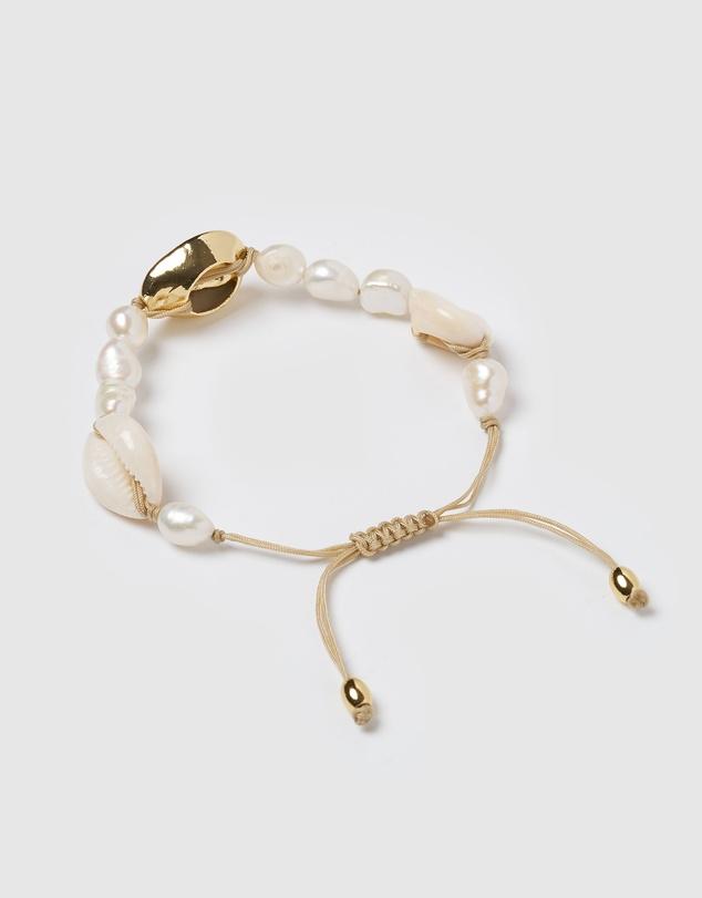 Women Amity Shell Freshwater Pearl Bracelet