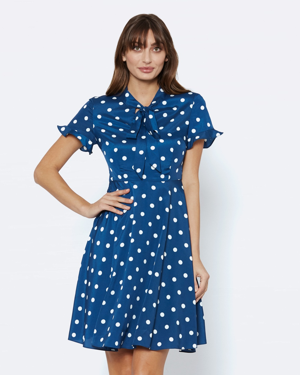 Alannah Hill Bespeckled Dress Printed Dresses Blue Bespeckled Dress
