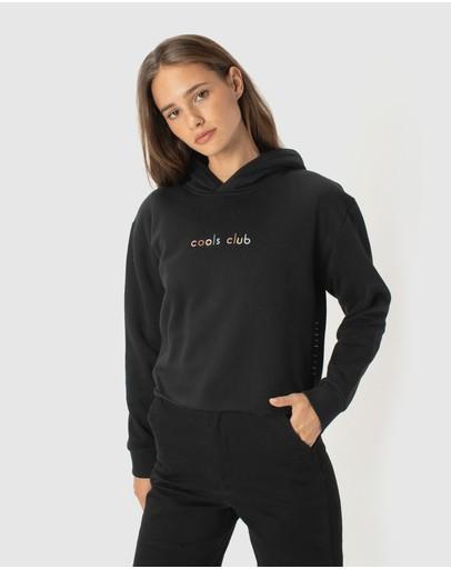 Cools Club Colour Member Crop Hood Black