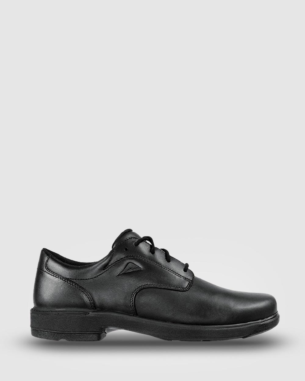 Ascent Scholar D Width School Shoes Black Australia