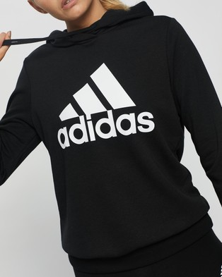 adidas Performance Badge of Sport French Terry Hoodie - Hoodies (Black & White)