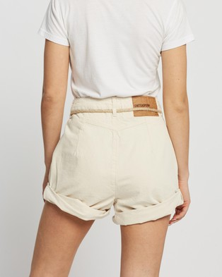 ONETEASPOON Streetwalker High Waist 80s Shorts - Denim (Nashville Cream)
