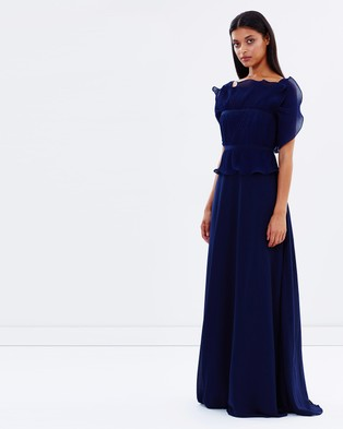 Talulah – Long Letter Gown Navy