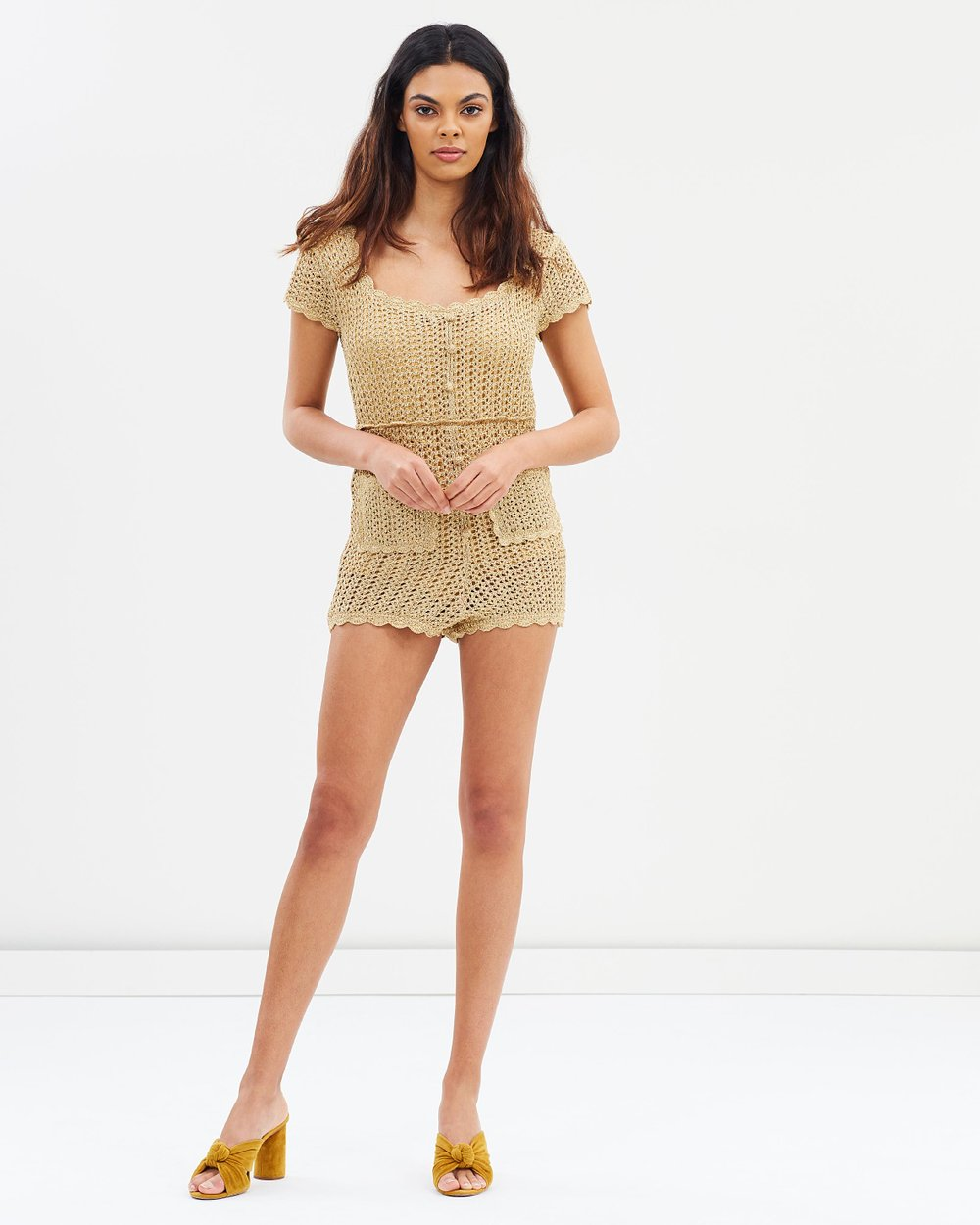 026b5792eb0 Hot Like Fire Playsuit by alice McCALL Online