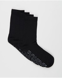 Bonds - Logo Lightweight Crew Socks 4-Pack