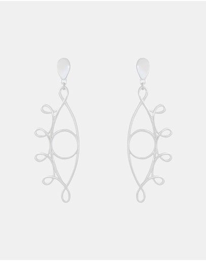Saint Valentine Illuminati Earrings Silver