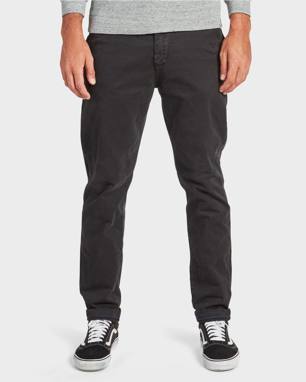 Academy Brand Cooper Slim Chino Pants Black