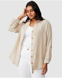 Cotton On Curve - Oversized Beach Shirt