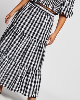 Atmos&Here Curvy Jayne Cotton Skirt - Skirts (Gingham)