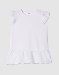 Milky - Broderie Frill Tee - Kids