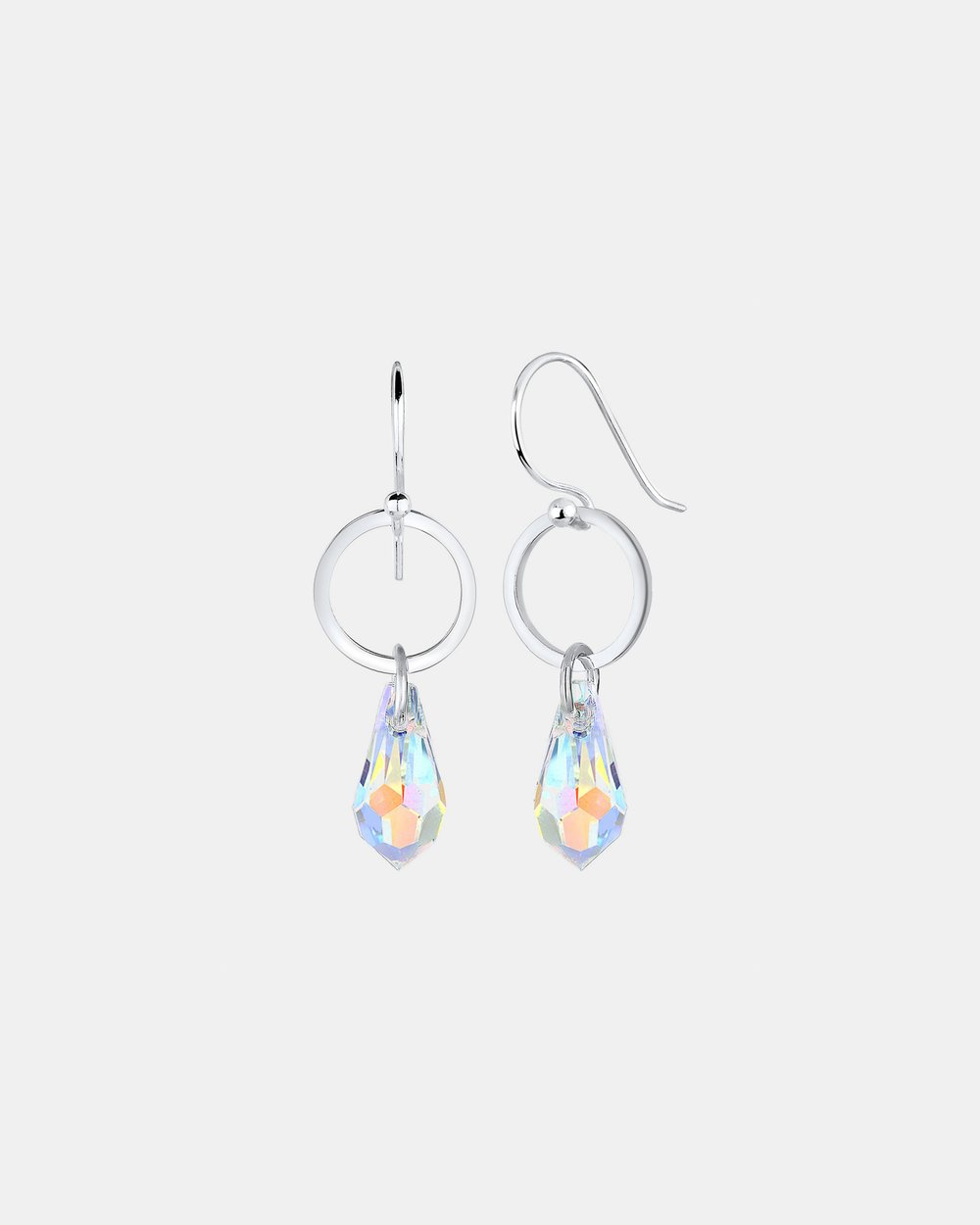 bfb1243eb2d55 Earring Drop Circle Geo Swarovski Crystals 925 Sterling Silver by ...