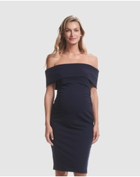 Soon Maternity - Claire Off-Shoulder Dress