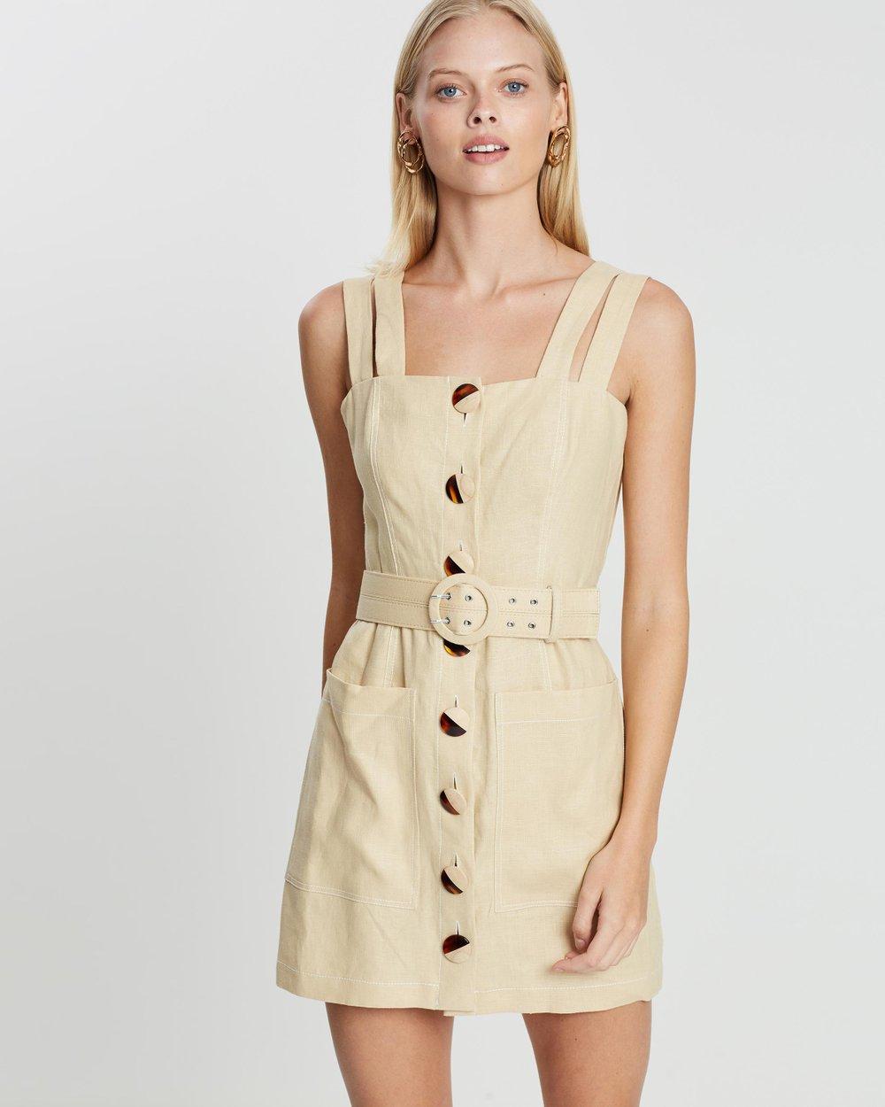 14b5a97806b Button Front Double Strap Dress by Nicholas Online