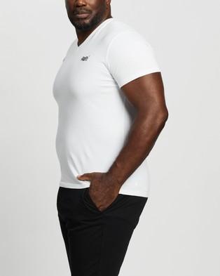 Superdry Plus Orange Label Classic V Tee - T-Shirts & Singlets (Optic White)
