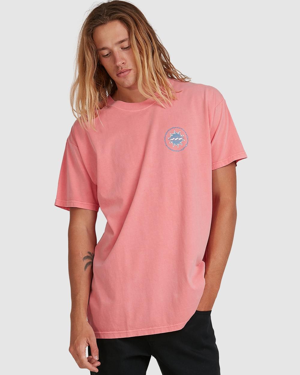 Billabong - Holey Moley Short Sleeve Tee - T-Shirts & Singlets (RETRO PINK) Holey Moley Short Sleeve Tee