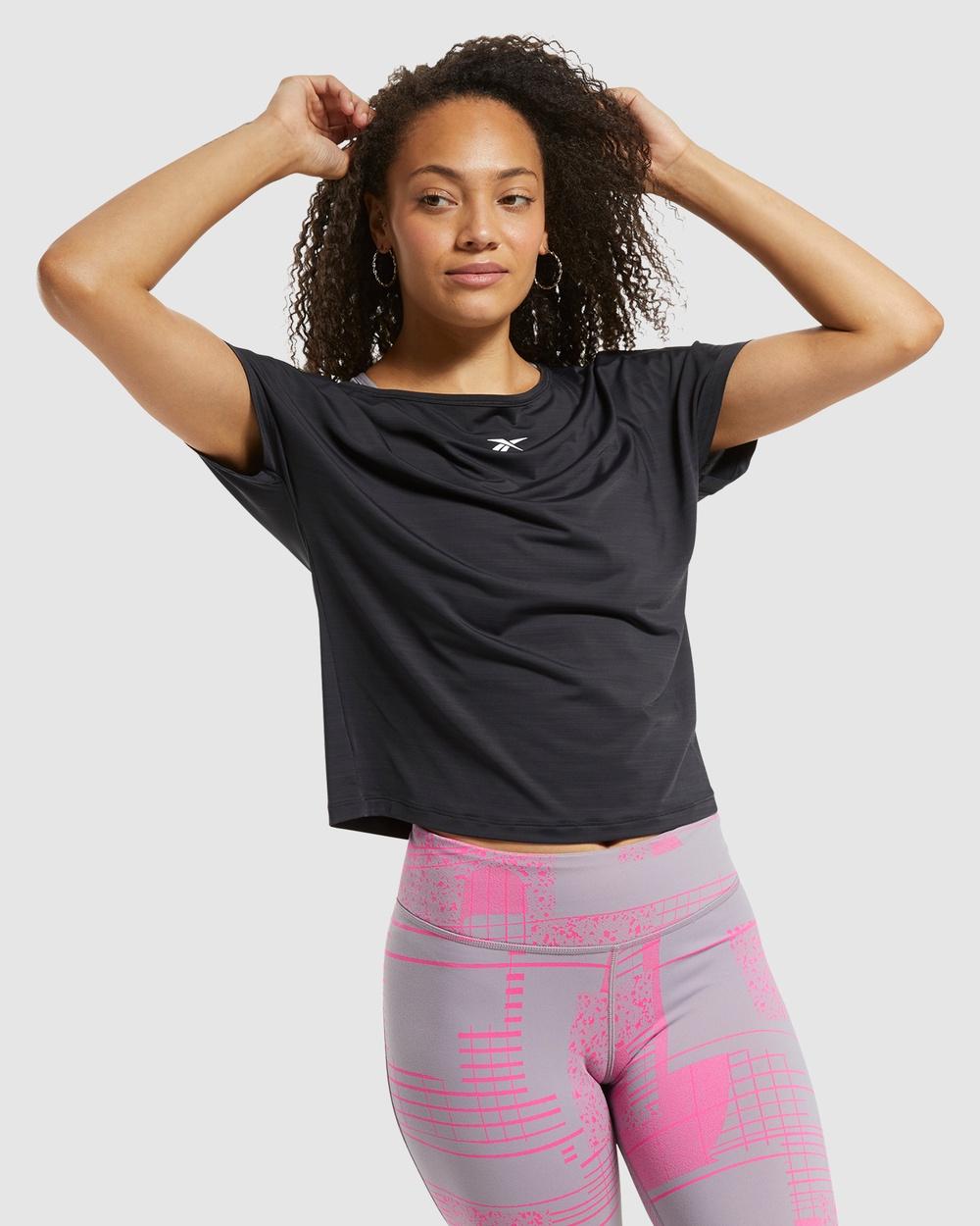 Reebok Performance - ACTIVCHILL Boxy Tee - Long Sleeve T-Shirts (Black) ACTIVCHILL Boxy Tee