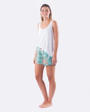 DREAM WITH ME Santorini Shorts - Sleepwear (Blue)