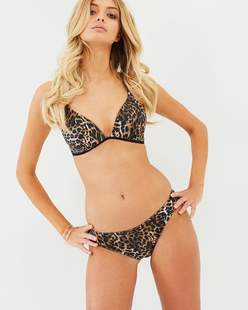 Amore + Sorvete Daiquiri Bottoms Bikini Set Leopard Daiquiri Bottoms