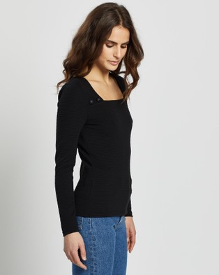 Review - Cute as a Button Top - Tops (Black) Cute as a Button Top