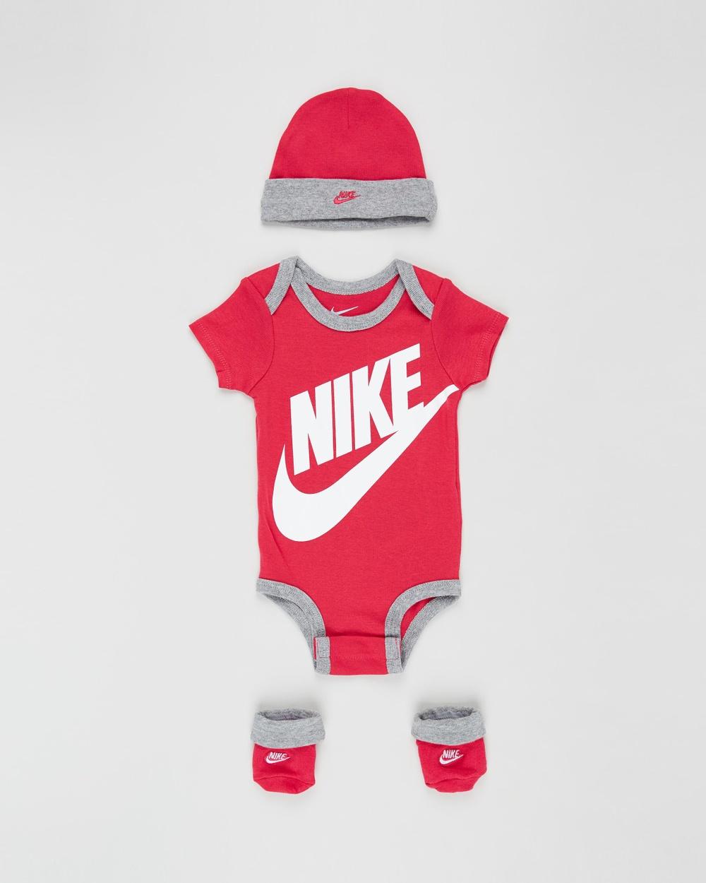 Nike Futura Logo Boxed Set Babies Headwear Rush Pink