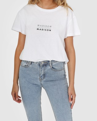 Madison The Label Madison Madison Tee - T-Shirts & Singlets (White)