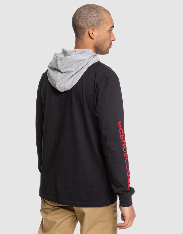 DC Shoes - Mens Rellin Long Sleeve Hooded Top