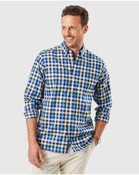 Gazman - Easy Care Twill Check Long Sleeve Shirt