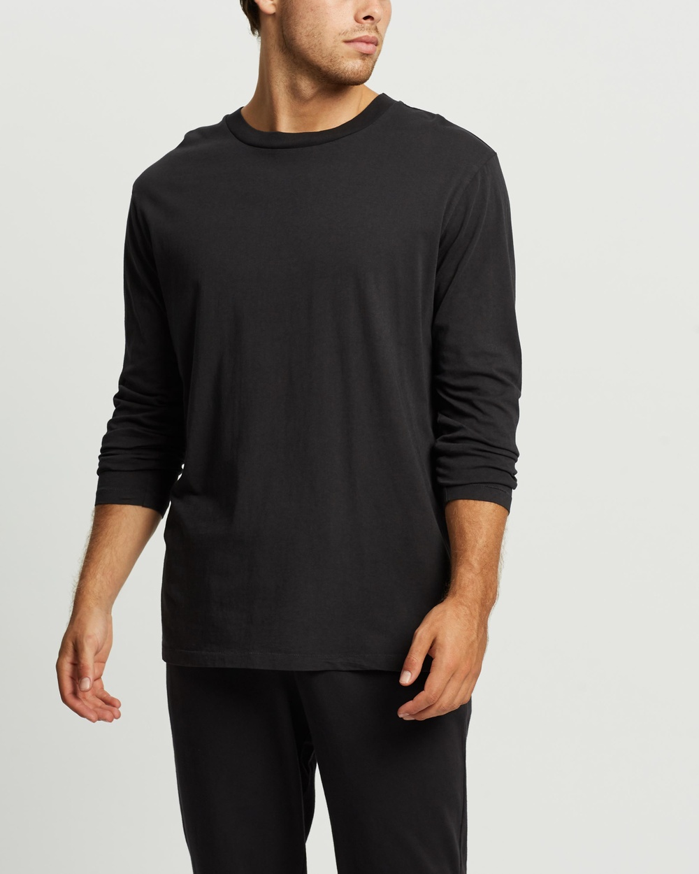 Assembly Label - Reuben Long Sleeve Tee - T-Shirts & Singlets (Washed Black) Reuben Long Sleeve Tee
