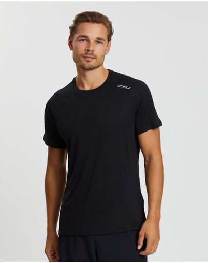 2xu Xvent G2 Ss Tee Black & Silver Reflective