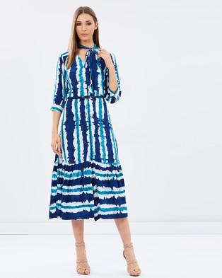 Closet London – Printed Midi Dress Multi