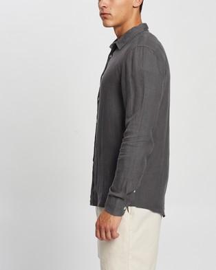 AERE LS Linen Shirt Casual shirts Charcoal
