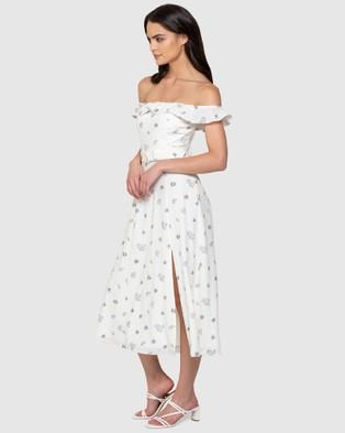 Forever New Nikki Bardot Midi Dress - Dresses (Ivory Sprig Floral)