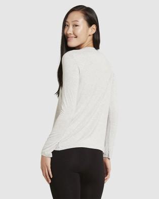 Boody Organic Bamboo Eco Wear - Long Sleeve T Shirt - Long Sleeve T-Shirts (Light Marl) Long Sleeve T-Shirt